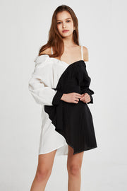 Ava Cold Shoulder Shirt Dress