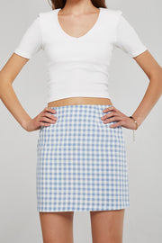 Aria Gingham Mini Skirt