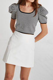 Ashley Coated Mini Skirt