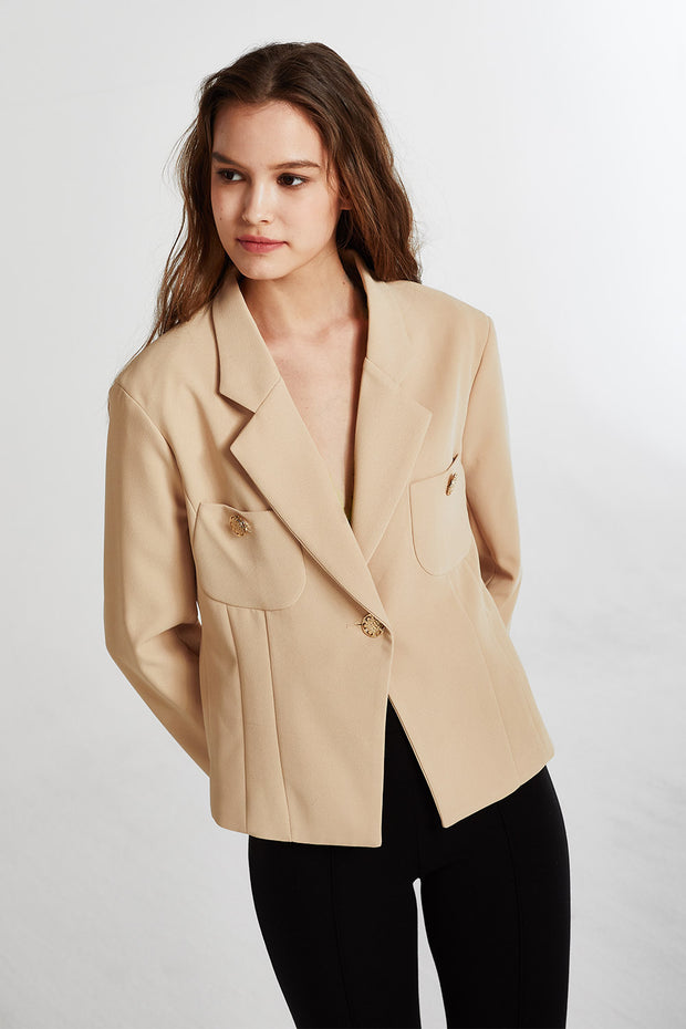 Penelope Tailored Button Accent Jacket