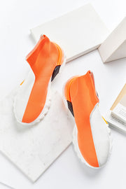 Diagonal Contrast Color Sneakers by STORETS