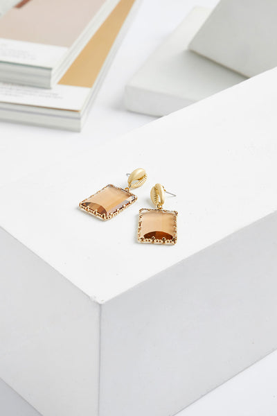 storets.com Cowrie Shell Drop Earrings