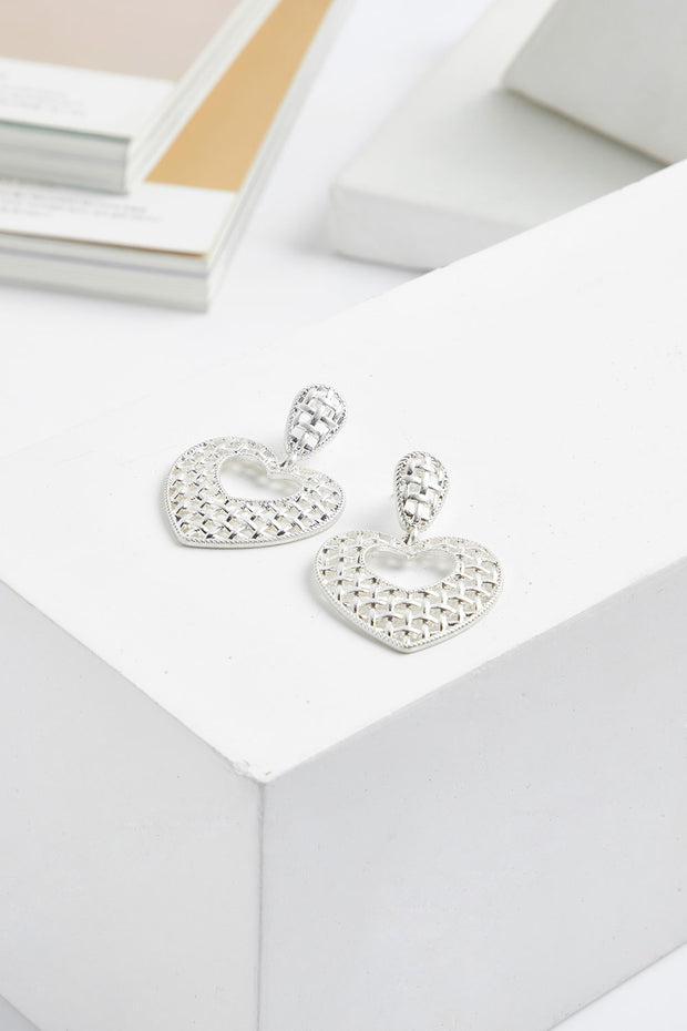 Heart Drop Earrings by STORETS