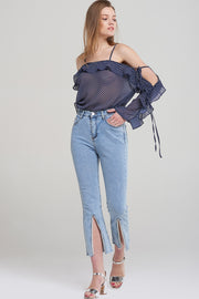 Lucy Cropped Slit Jeans
