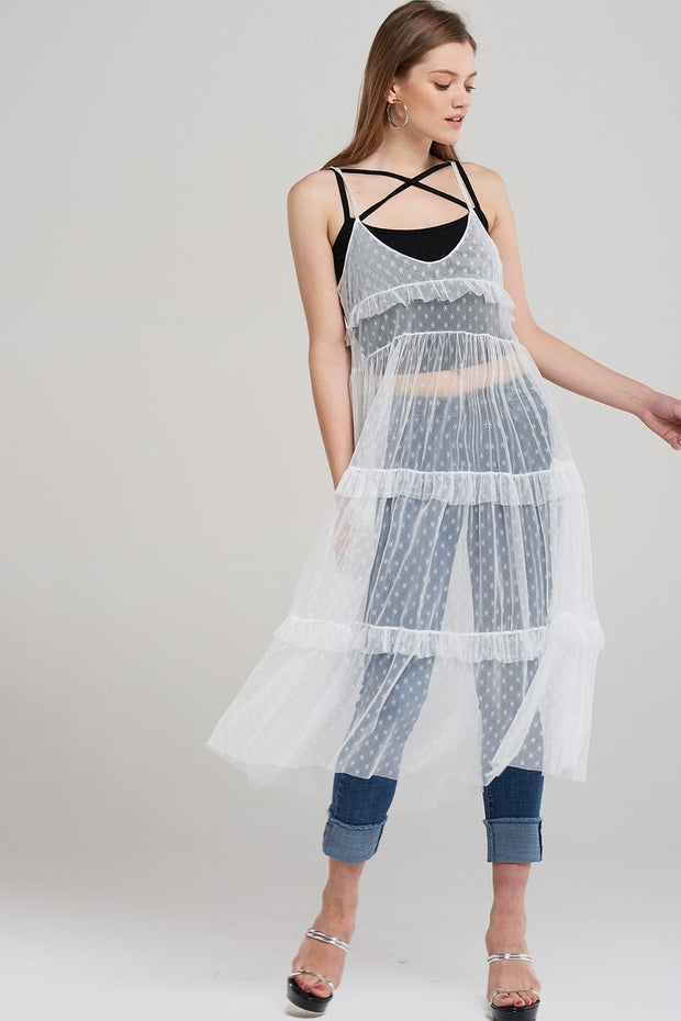 Sophie Star Tulle Slip Dress