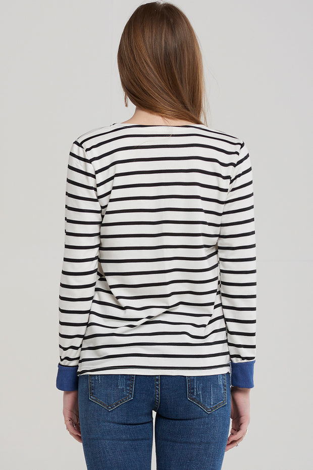 Zoe Basic Sailor Stripe Top