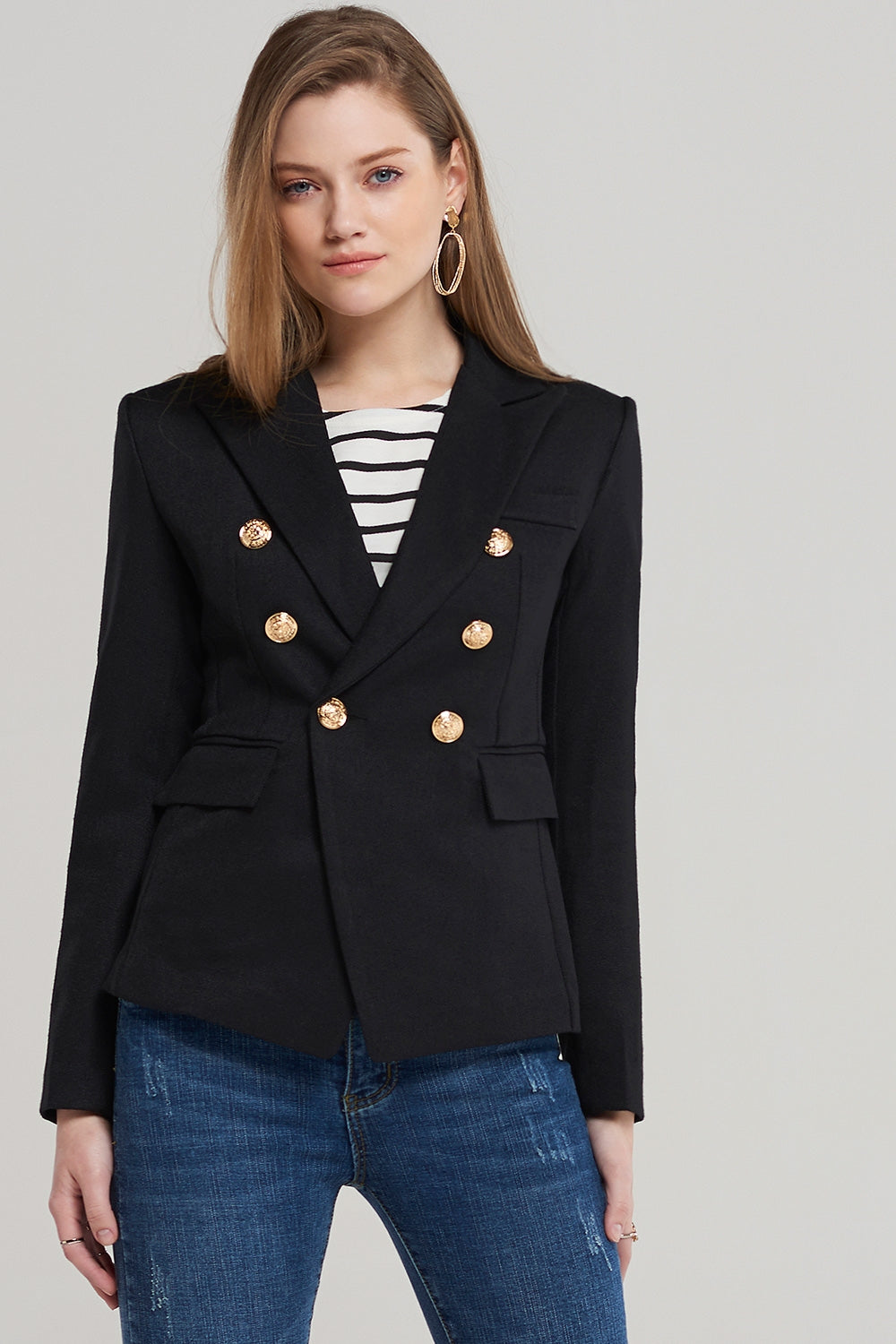 Alexa Fitted Double Breast Blazer
