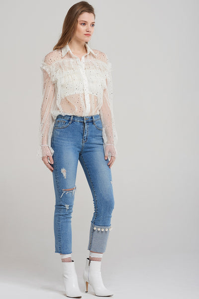 Eva Single Pearl Lightbllue Jeans