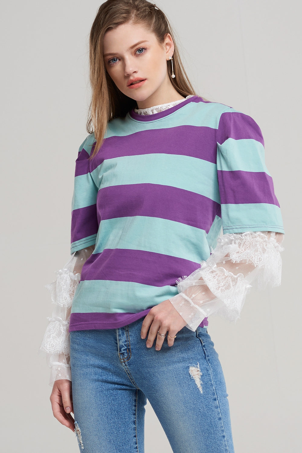Alexa Darted Stripe T-shirt