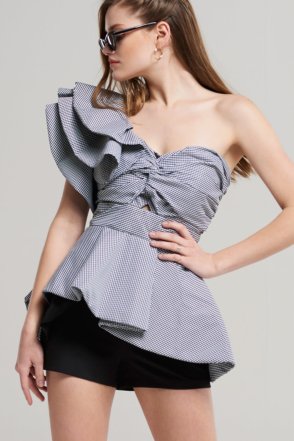 Alexis One Shoulder Ruffle Top