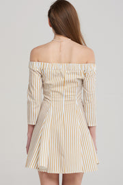 Ava Flared Stripe Dress