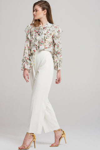 Nicole Gold Button Wide Pants
