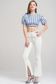 Alice Stripe Ribbon Blouse