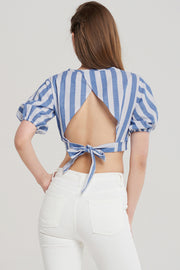 storets.com Alice Stripe Ribbon Blouse