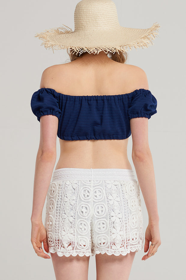 storets.com Summer Crochet Lace Shorts