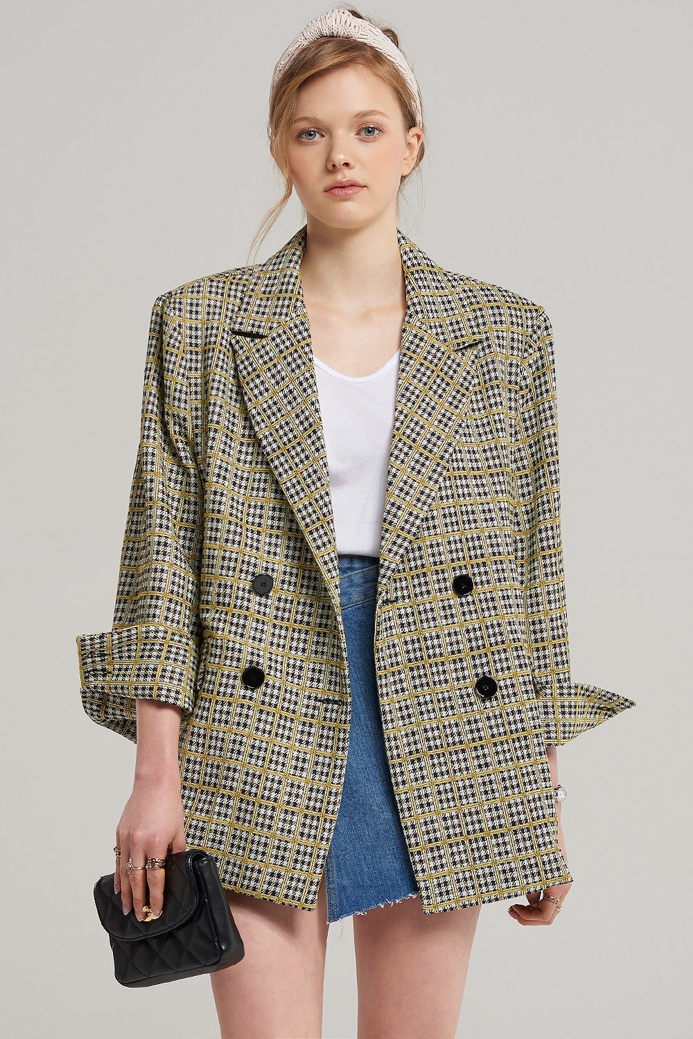 Claire Square Check Jacket