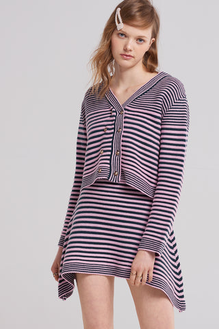 Betty Stripe Mix Cardigan