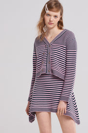 Velma Striped Knit Skirt
