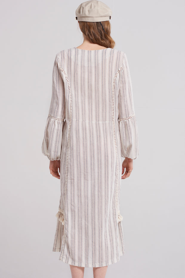 Lizzy Tassel Stripe Dress
