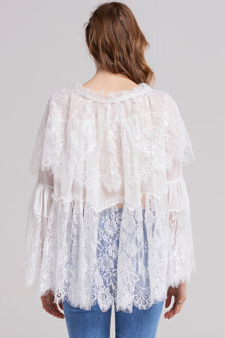Evelyn Snowy Lace Blouse
