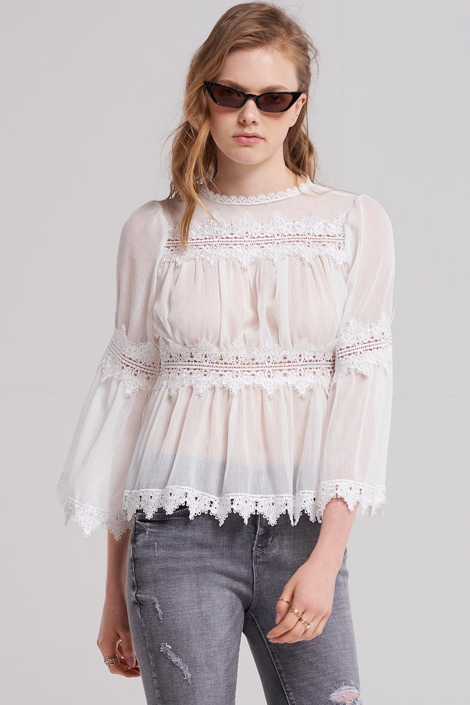 Bella Lace Tiered Blouse
