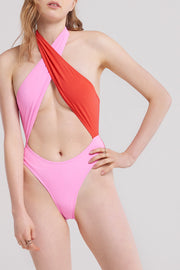 Vesper Cross Halter Swimsuit