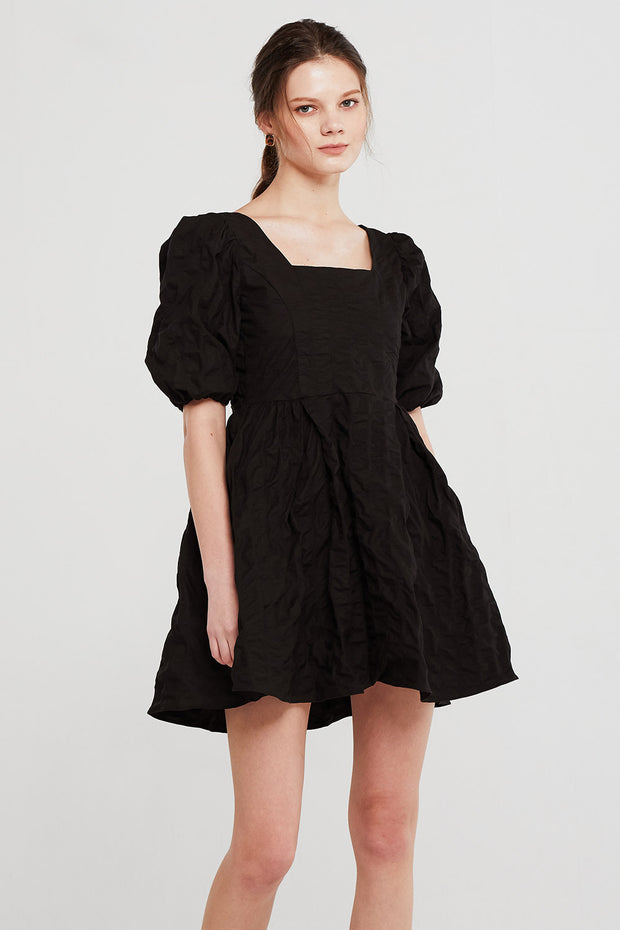 Aria Textured Puffed Dress