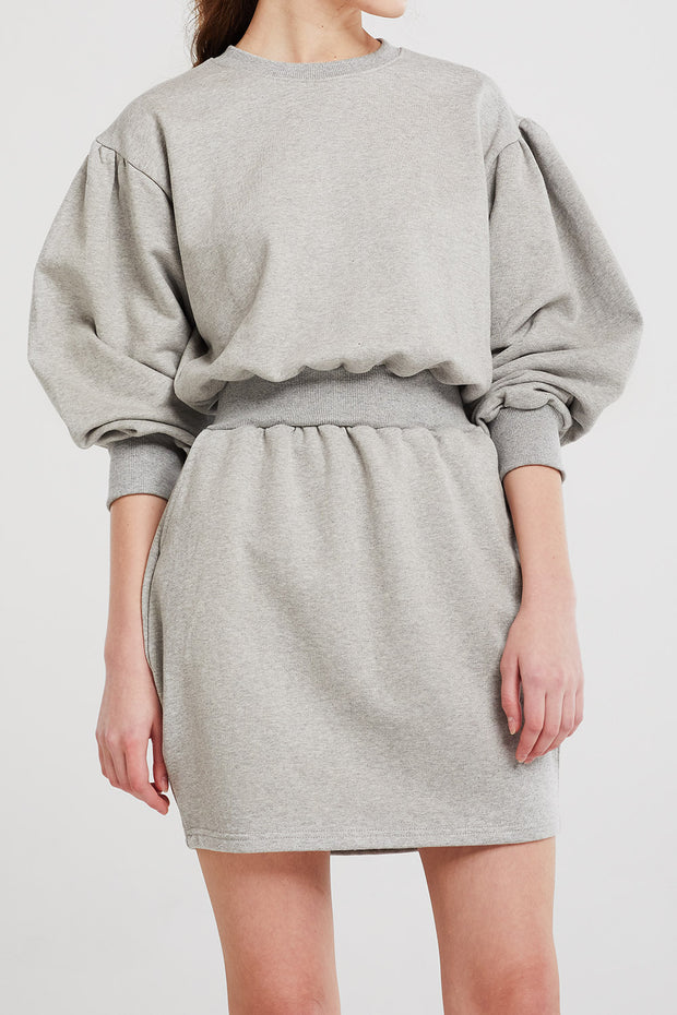 Grace Puffed Sweat Dress