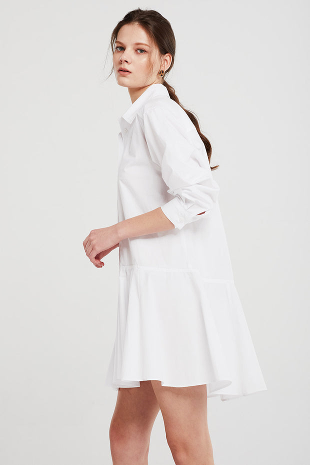 Chloe Flare Hem Shirt Dress
