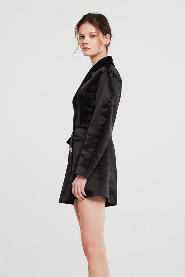 Lyla Structured Satin Jacket