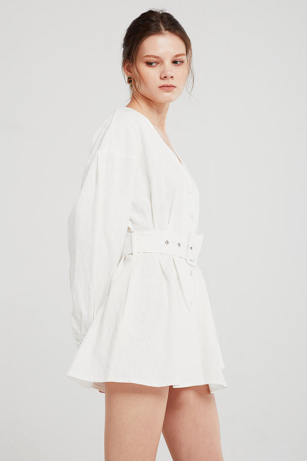 storets.com Layla Linen Belted Mini Dress