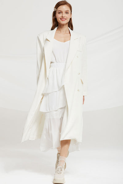 Elyse Linen Trench Coat