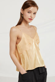 Kensley Crinkle Satin Cami Top