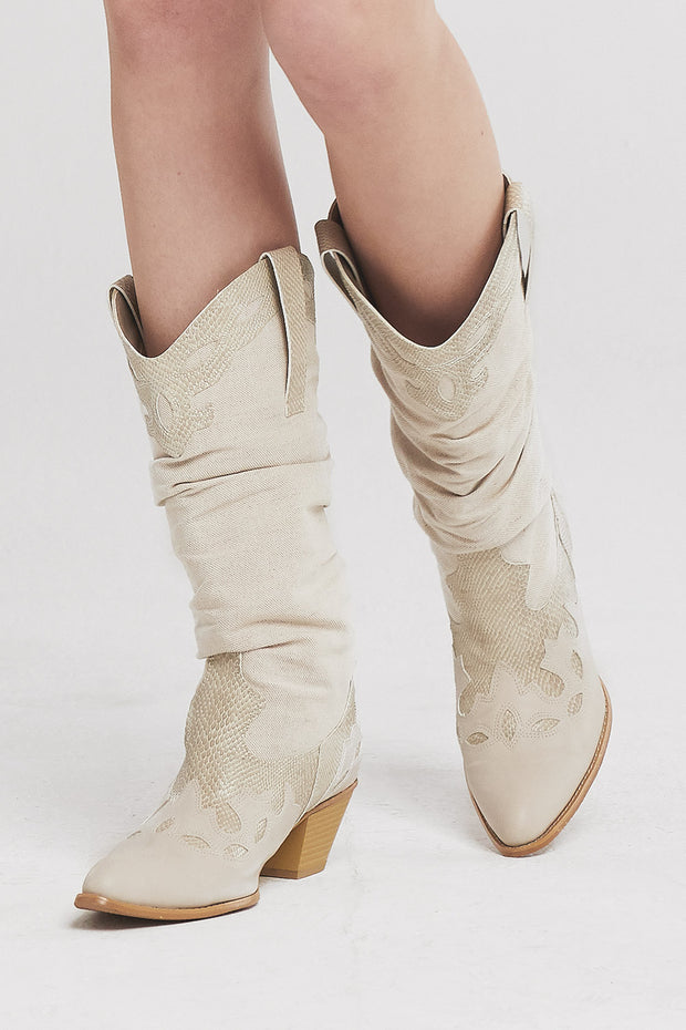 Western Pleather Boots