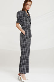 Charleigh High Waist Pants in Check