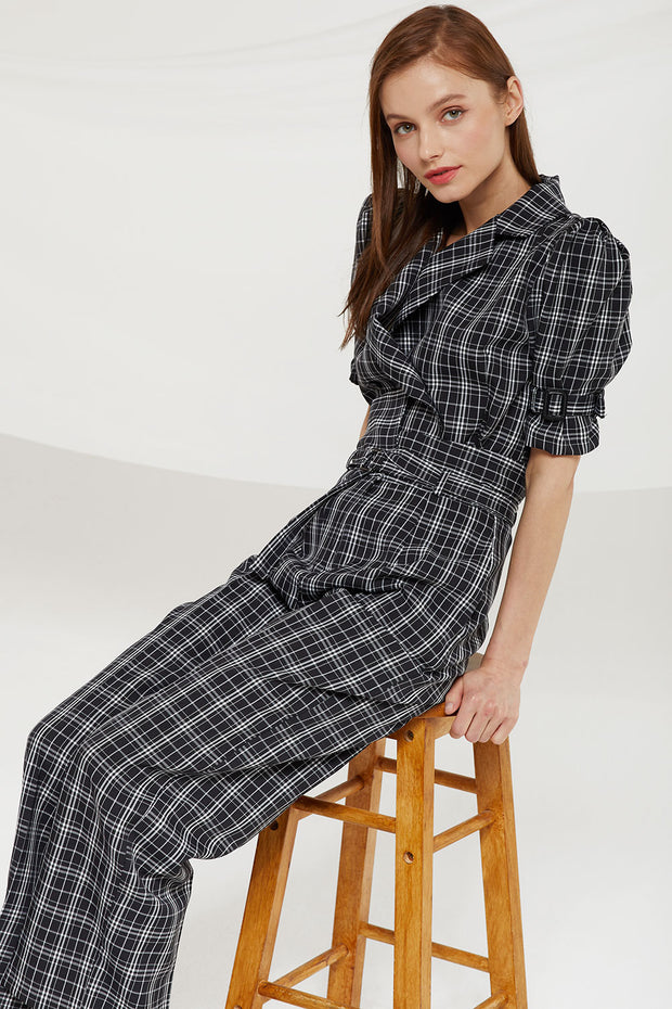 storets.com Charleigh High Waist Pants in Check