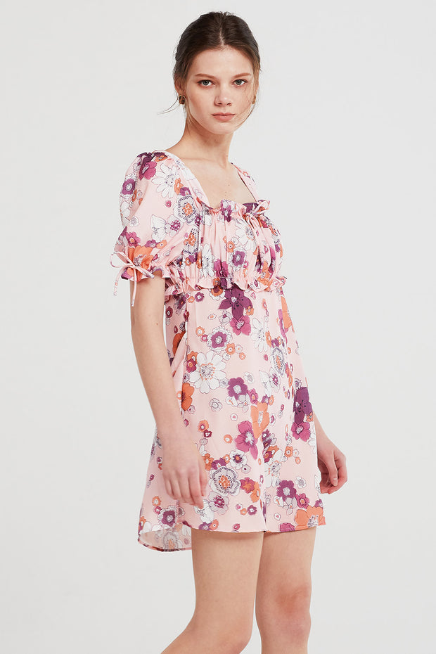 Iris Cutout Back Floral Dress