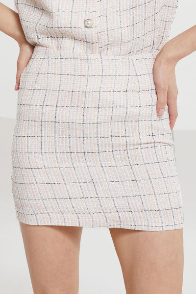 Hadassah Plaid Tweed Skirt by STORETS