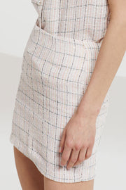 Hadassah Plaid Tweed Skirt