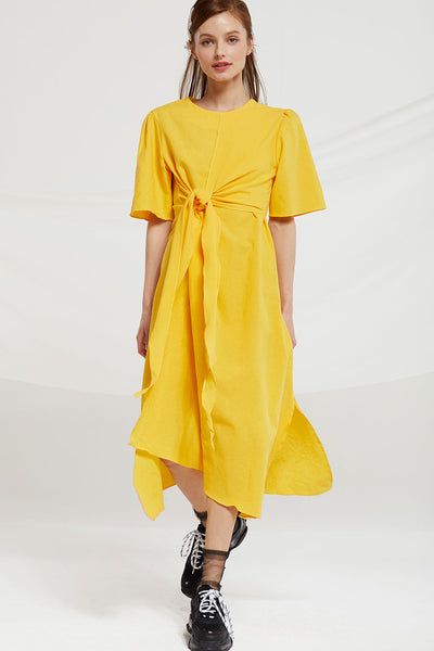 Martha Tie Front Linen Dress
