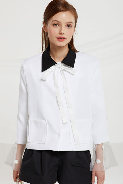 Kailey Contrast Collar Blazer