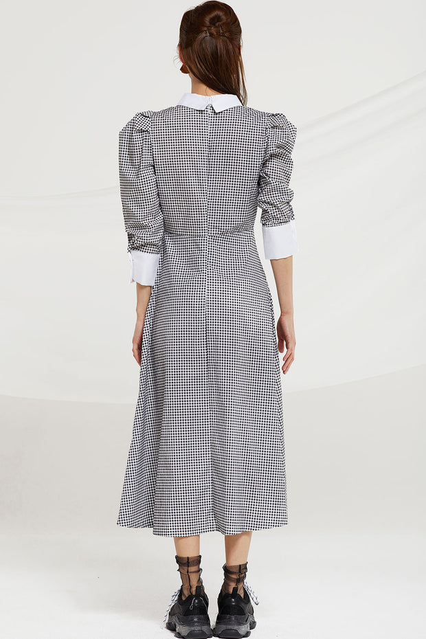 storets.com Keyla Gingham Check Dress