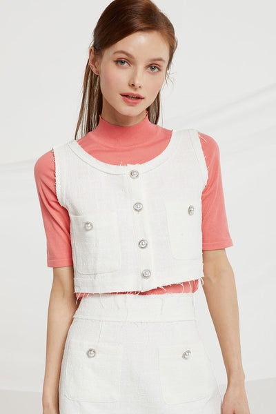 Aleah Tweed Sleeveless Top