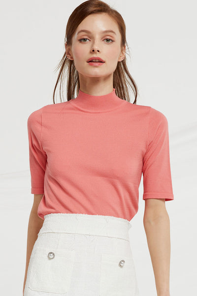 Nayeli High Neck Knit Top