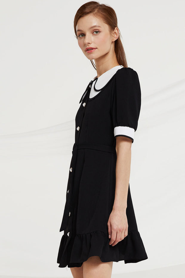 Ellis Contrast Collar Dress
