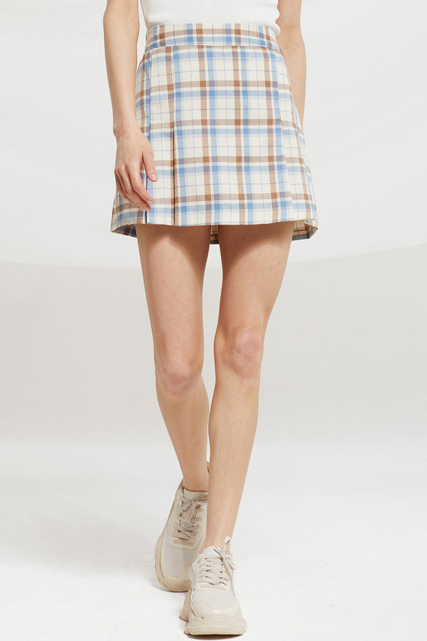Aegle Multi Check Skort