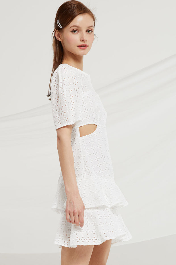 Annabel Eyelet Cutout Dress