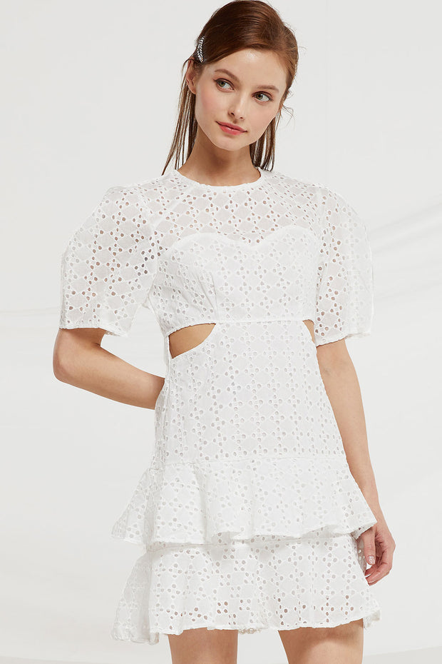 Annabel Eyelet Cutout Dress by STORETS