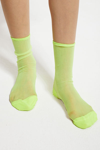 Fluorescent Color Mesh Socks by STORETS