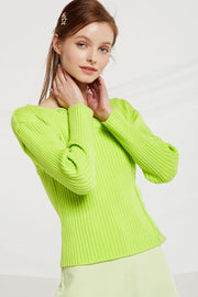 Lainey Asymmetric Ribbed Knit Top